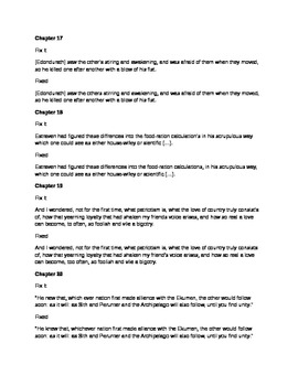Daily Fix It Grammar and Quote Analysis for The Left Hand of Darkness by Guin