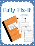 Daily Fix It Journal Pages : Morning Work
