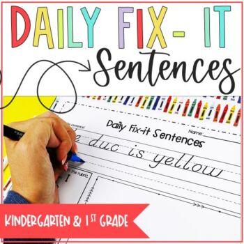 Daily Fix-It Kindergarten and First Grade