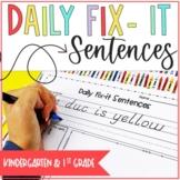 Daily Fix-It Kindergarten and First Grade 180 sentences