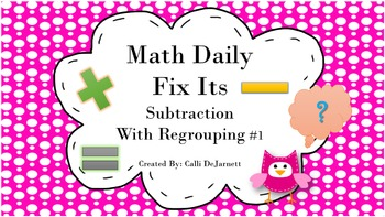 Daily Fix It Math Problem Solving (Word Problems)