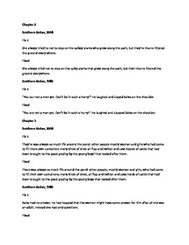 Daily Fix It Quote and Grammar Analysis for A Long Walk to Water