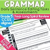 5th Grade Daily Oral Language Sentences | Morning Work | D