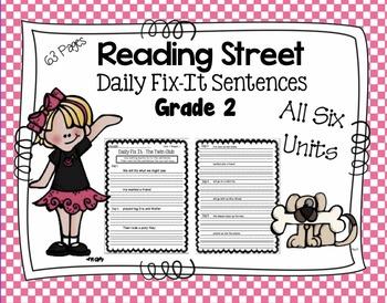 Daily Fix-It Sentences - Reading Street Scott Foresman Grade 2