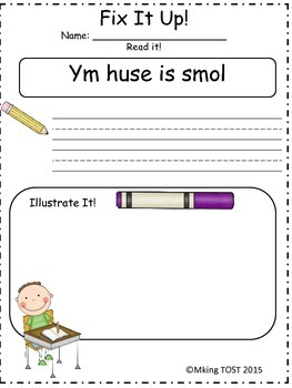 Daily Fix It Up! (Daily Oral Language Pack)
