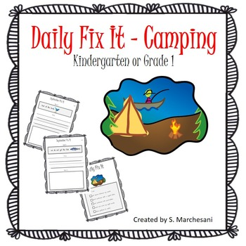 Daily Fix-Its - Camping Theme