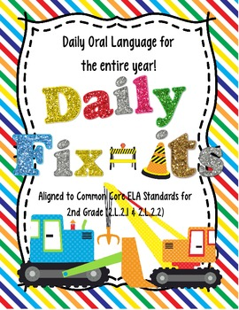 Daily Fix It Pack Daily Oral Language For The Entire Year Tpt