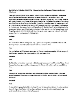 Daily Fix-Its Quote, Grammar and Spelling for Unbroken by