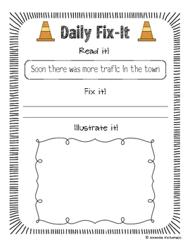 Daily Fix Its!  RS Unit One: Third Grade Edition!