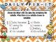 Daily Fix-it (3rd Grade Common Core Reading Street)