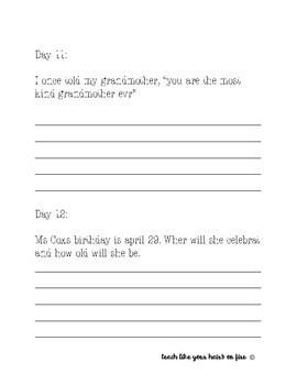 Daily Fix it (Dear Mr. Henshaw)