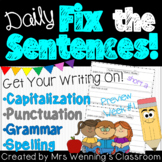 Daily Fix the Sentences (Fix Its) - Whole Year!
