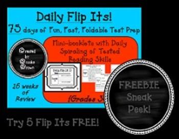 Daily Flip Its! {Sneak Peek FREEBIE for Fun, Fast, Foldable Test Prep}