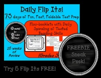 Daily Flip Its! {Sneak Peek FREEBIE for Fun, Fast, Foldabl