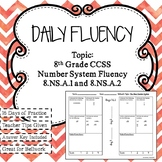 Daily Fluency: 8th Grade Number System
