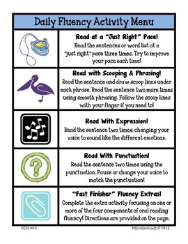 """""""Daily Fluency"""" Activity Pack (July - August)"""