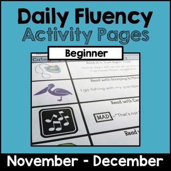 """Daily Fluency"" Activity Pack (November - December)"