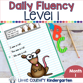 Daily Fluency Passages & Interactive Notebook Strips Level 1 Month 1