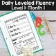 Daily Fluency Notebook Strips & Passages Level 1 Month 1