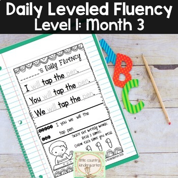 Daily Fluency Notebook Strips & Passages Level 1 Month 3