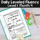 Daily Fluency Notebook Strips & Passages Level 1 Month 4