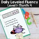Daily Fluency Passages & Interactive Notebook Strips Level 1 Month 4