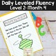 Daily Fluency Notebook Strips & Passages Level 2 Month 4