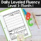 Daily Fluency Passages & Interactive Notebook Strips Level 3 Month 1