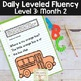 Daily Fluency Notebook Strips & Passages Level 3 Month 2