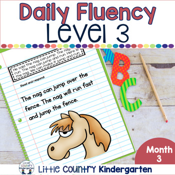 Daily Fluency Notebook Strips & Passages Level 3 Month 3