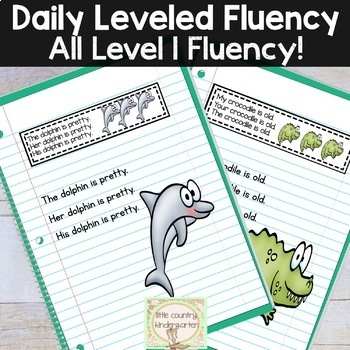Daily Fluency Passages & Interactive Notebook Strips: Level 1 Bundle