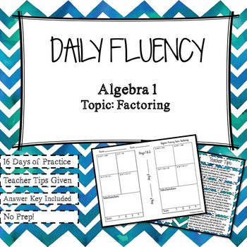 Daily Fluency Practice: Factoring Polynomials