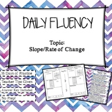 Daily Fluency Practice: Slope/Rate of Change