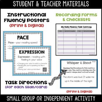 Daily Fluency Task Cards (Beginner Level 1)