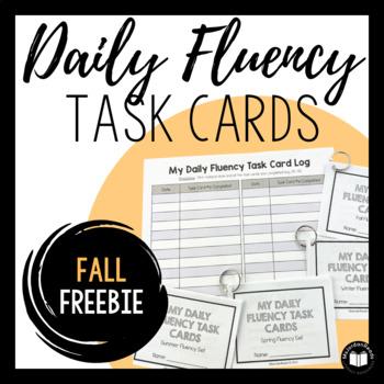 Daily Fluency Task Cards -- Fall FREEBIE!