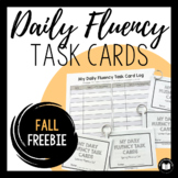 Daily Fluency Task Cards -- Fall FREEBIE