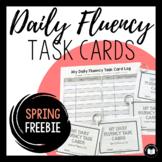 Daily Fluency Task Cards -- Spring FREEBIE!