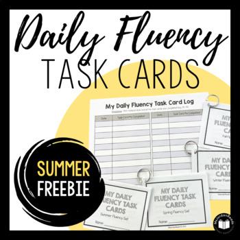 Daily Fluency Task Cards -- Summer FREEBIE!