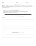 Daily Focus Activity (Bellringer/Journal Template)