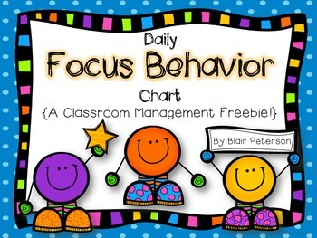 Daily Focus Behavior Chart {A Classroom Management Freebie}
