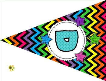 Daily Focus Headers/Banners for Kindergarten or Pre-K Bright Chevron