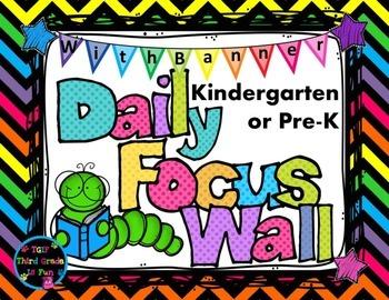 Daily Focus Headers/Banners for Kindergarten or Pre-K Brig
