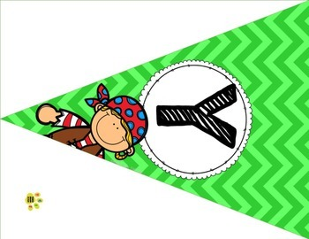 Daily Focus Headers/Banners for Kindergarten or Pre-K Pirate Theme