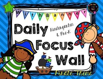 Daily Focus Headers/Banners for Kindergarten or Pre-K Pira