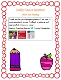 Daily Focus Journal