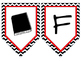 Daily Focus Wall (Black and White Cheveron with Red Trim)