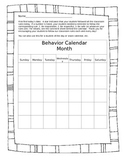 Daily Folder Behavior Calendar and Communication Page