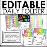 Daily Folder Covers Editable