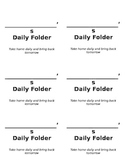 Daily Folder Labels