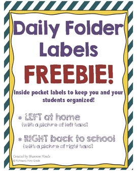 Daily Folder Pocket Labels
